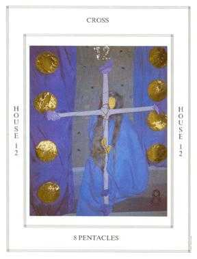 Eight of Rings Tarot Card - Tapestry Tarot Deck
