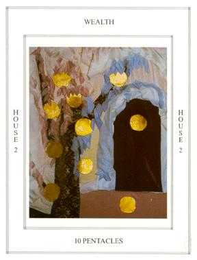 Ten of Stones Tarot Card - Tapestry Tarot Deck
