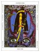 Justice Tarot card in Tapestry deck