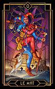 The Fool Tarot card in Tarot Decoratif deck