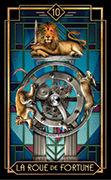 Wheel of Fortune Tarot card in Tarot Decoratif deck