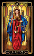 Justice Tarot card in Tarot Decoratif deck