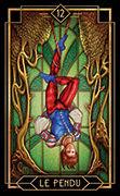 The Hanged Man Tarot card in Tarot Decoratif deck