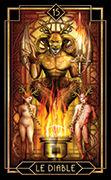 The Devil Tarot card in Tarot Decoratif deck