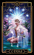 The Star Tarot card in Tarot Decoratif deck
