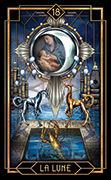 The Moon Tarot card in Tarot Decoratif deck