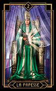 The High Priestess Tarot card in Tarot Decoratif deck