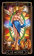 The World Tarot card in Tarot Decoratif deck