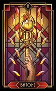 Ace of Wands Tarot card in Tarot Decoratif deck