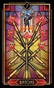 Seven of Wands Tarot card in Tarot Decoratif deck