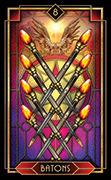 Eight of Wands Tarot card in Tarot Decoratif deck