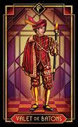Page of Wands Tarot card in Tarot Decoratif deck