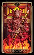 Knight of Wands Tarot card in Tarot Decoratif deck