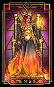 Queen of Wands Tarot card in Tarot Decoratif deck