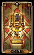 Ace of Cups Tarot card in Tarot Decoratif deck