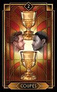 Two of Cups Tarot card in Tarot Decoratif deck