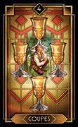 Four of Cups Tarot card in Tarot Decoratif deck