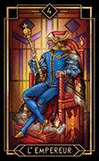The Emperor Tarot card in Tarot Decoratif deck
