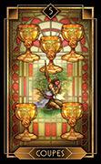 Five of Cups Tarot card in Tarot Decoratif deck