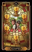 Six of Cups Tarot card in Tarot Decoratif deck