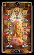 Seven of Cups Tarot card in Tarot Decoratif deck