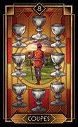 Eight of Cups Tarot card in Tarot Decoratif deck