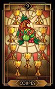 Nine of Cups Tarot card in Tarot Decoratif deck