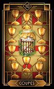 Ten of Cups Tarot card in Tarot Decoratif deck