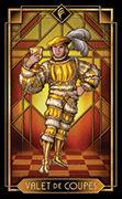 Page of Cups Tarot card in Tarot Decoratif deck
