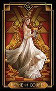 Queen of Cups Tarot card in Tarot Decoratif deck
