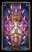 Ace of Swords Tarot card in Tarot Decoratif deck