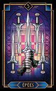 Five of Swords Tarot card in Tarot Decoratif deck