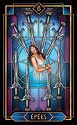 Eight of Swords Tarot card in Tarot Decoratif deck