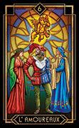 The Lovers Tarot card in Tarot Decoratif deck