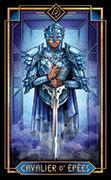 Knight of Swords Tarot card in Tarot Decoratif deck