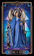 Queen of Swords Tarot card in Tarot Decoratif deck
