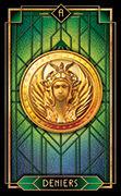 Ace of Coins Tarot card in Tarot Decoratif deck