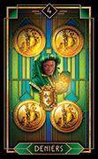 Four of Coins Tarot card in Tarot Decoratif deck