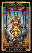 The Chariot Tarot card in Tarot Decoratif deck