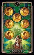 Seven of Coins Tarot card in Tarot Decoratif deck