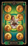 Eight of Coins Tarot card in Tarot Decoratif deck
