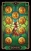 Nine of Coins Tarot card in Tarot Decoratif deck