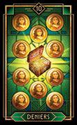 Ten of Coins Tarot card in Tarot Decoratif deck
