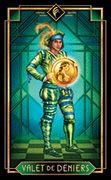 Page of Coins Tarot card in Tarot Decoratif deck