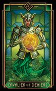 Knight of Coins Tarot card in Tarot Decoratif deck