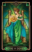 Queen of Coins Tarot card in Tarot Decoratif deck