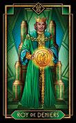 King of Coins Tarot card in Tarot Decoratif deck