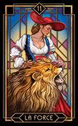 Strength Tarot card in Tarot Decoratif deck