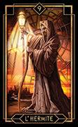The Hermit Tarot card in Tarot Decoratif deck