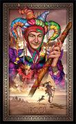 The Fool Tarot card in Tarot Grand Luxe deck